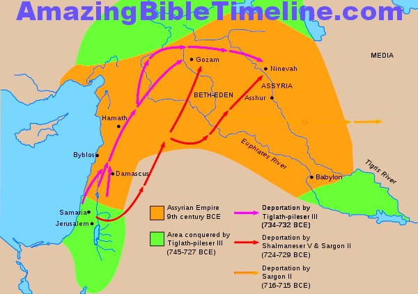 Israel and the First Carrying Away by Assyria