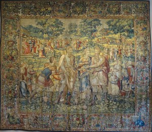 World Map Tapestry Office